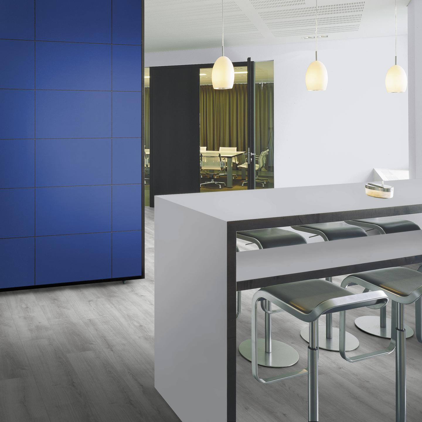 Partition wall in 2125 PE Atol Blue