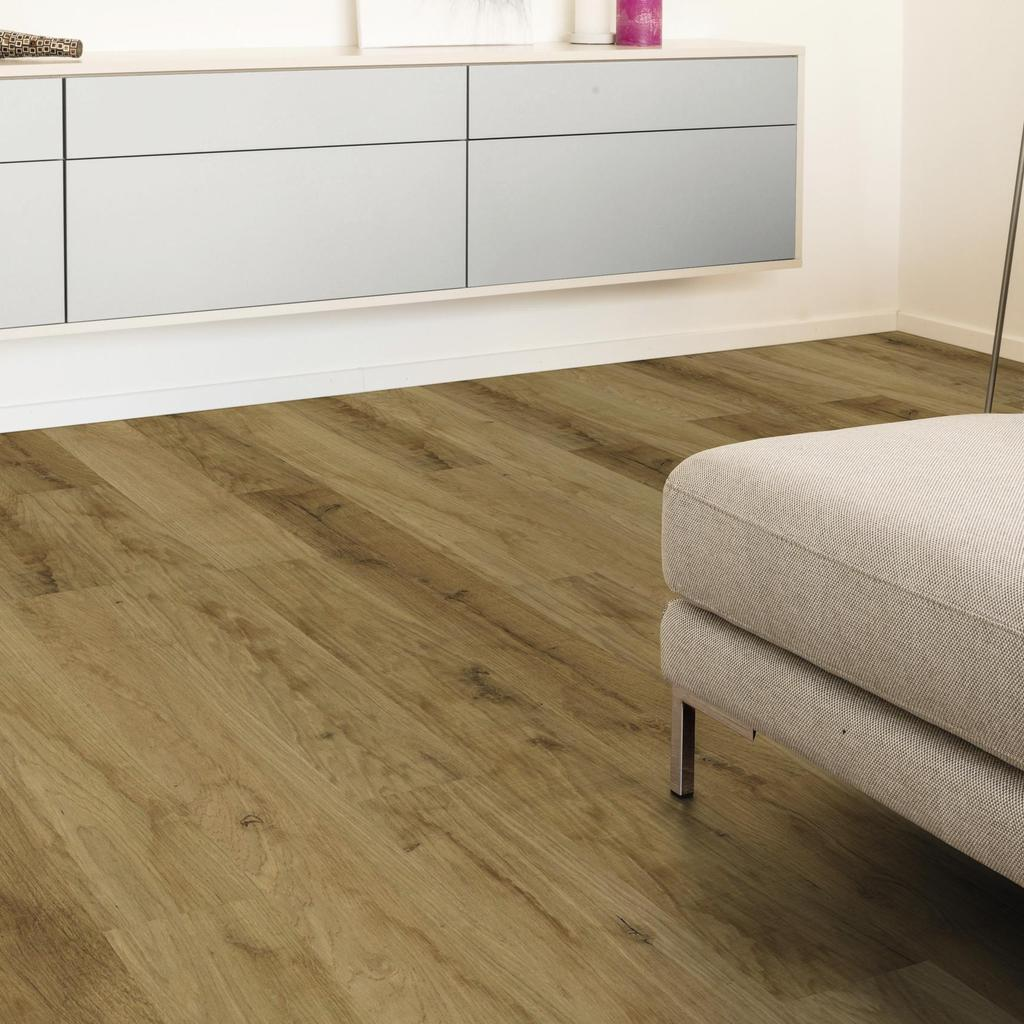 room scene living room wood floor Veneer Parquet O241 Oak Native Sepia LM