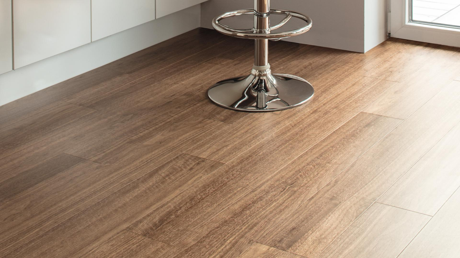 room scene dining room wood floor Veneer Parquet NU0AN0 Walnut Salon LM